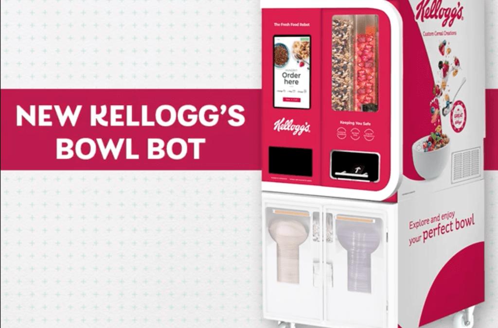 Kellogg's crea robot vending para preparar bol de cereal personalizado